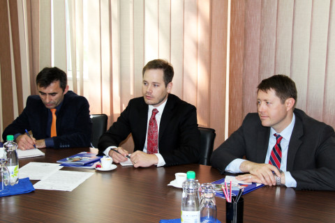 The meeting of the leadership of the CCI of Pridnestrovie with the members of the US Embassy was held in the Chamber of Commerce and Industry